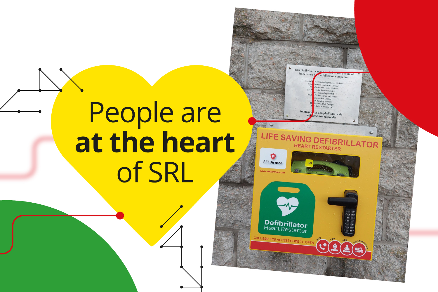 SRL joins local Aberdeen businesses to provide community defibrillator