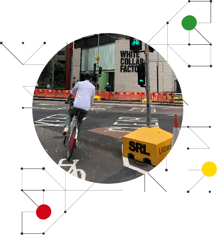 Urban64® keeps cyclists and pedestrians safe during transformation of Old Street Roundabout