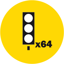 Up to 64 signals