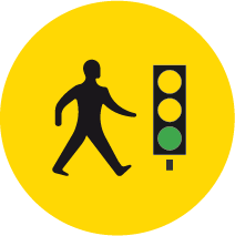 Walk with traffic pedestrian