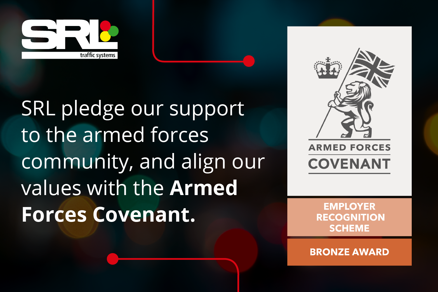 SRL honoured to receive Armed Forces Covenant – Employer Recognition Scheme Bronze Award